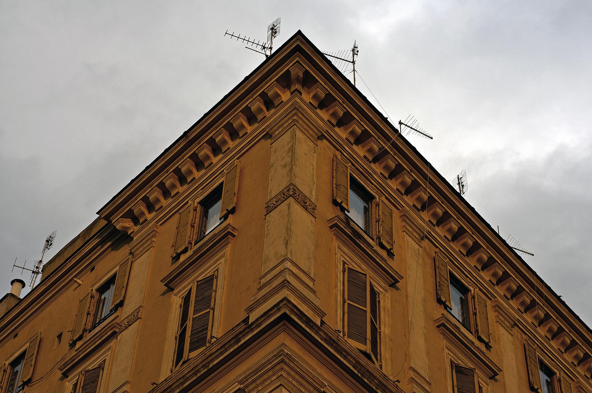 Roman Architectural Building Corner