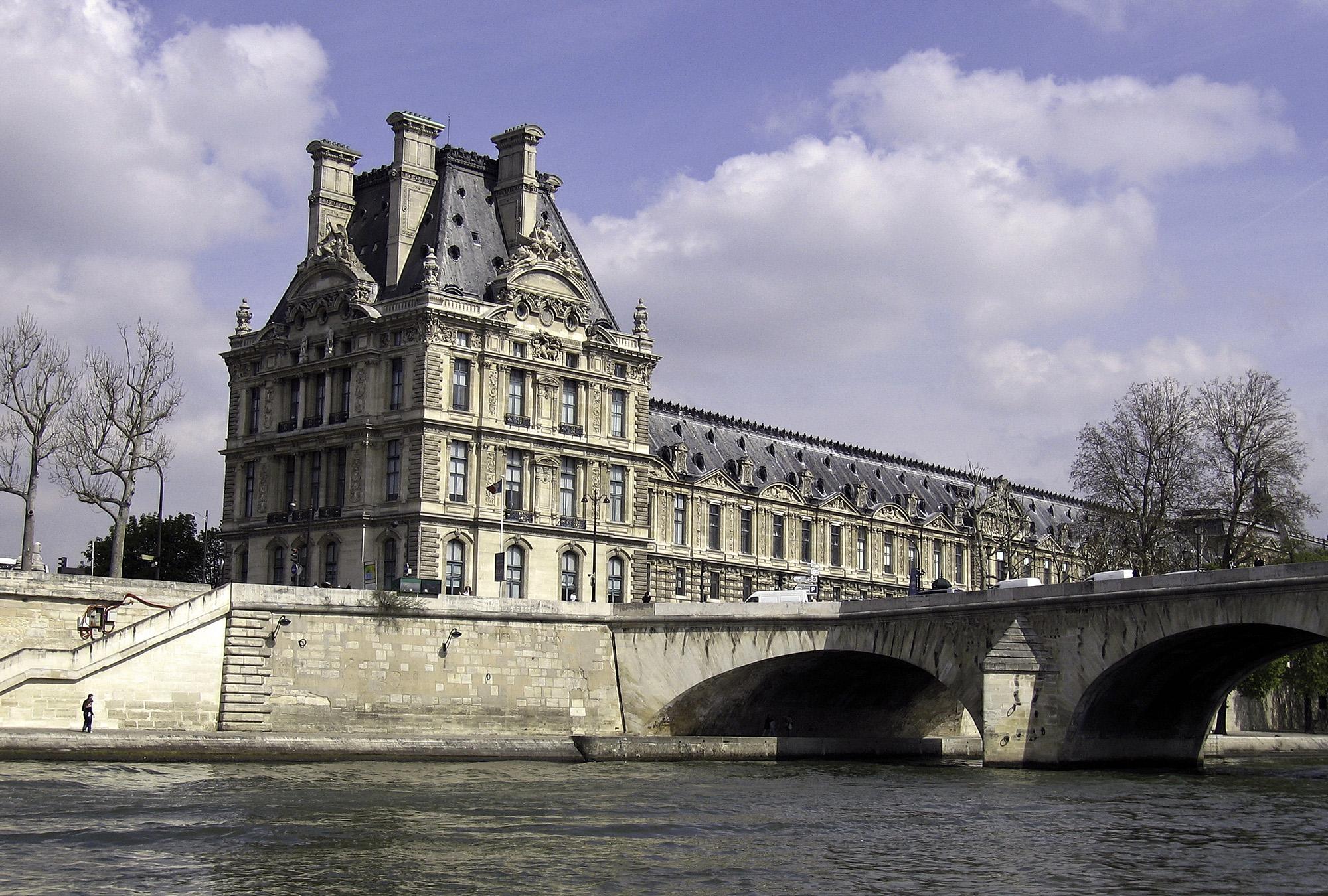 Ecole du Lourve from the River Seine