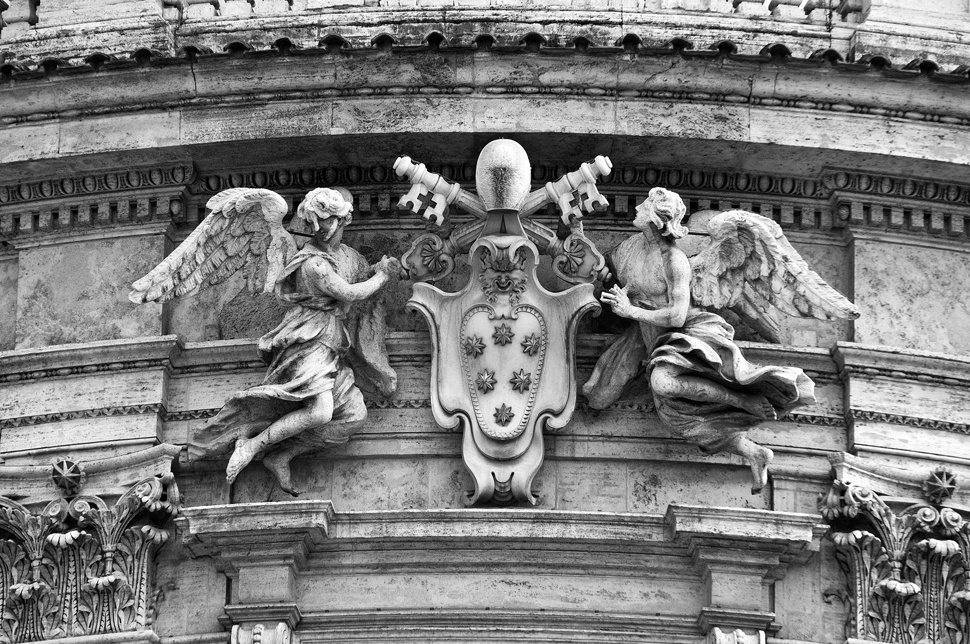 Close up on Basilica di Santa Maria Maggiore