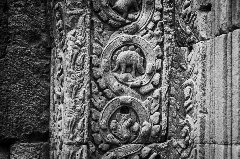 Stegosaurus Carving at Ta Prohm