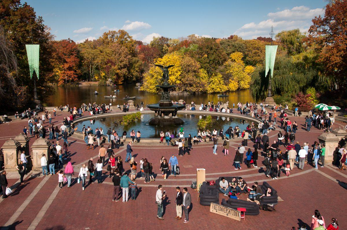 Bethesda Fountain in Central Park