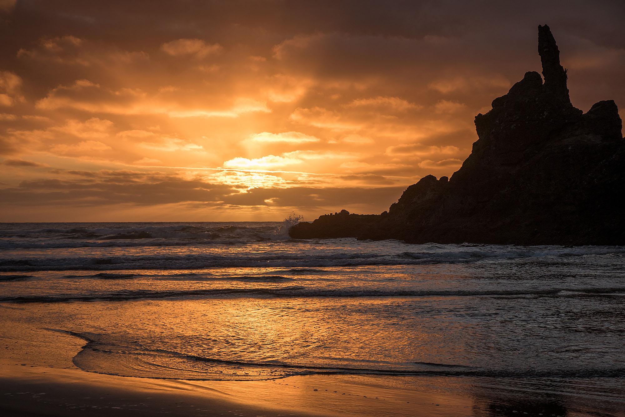Sunset from Piha beach