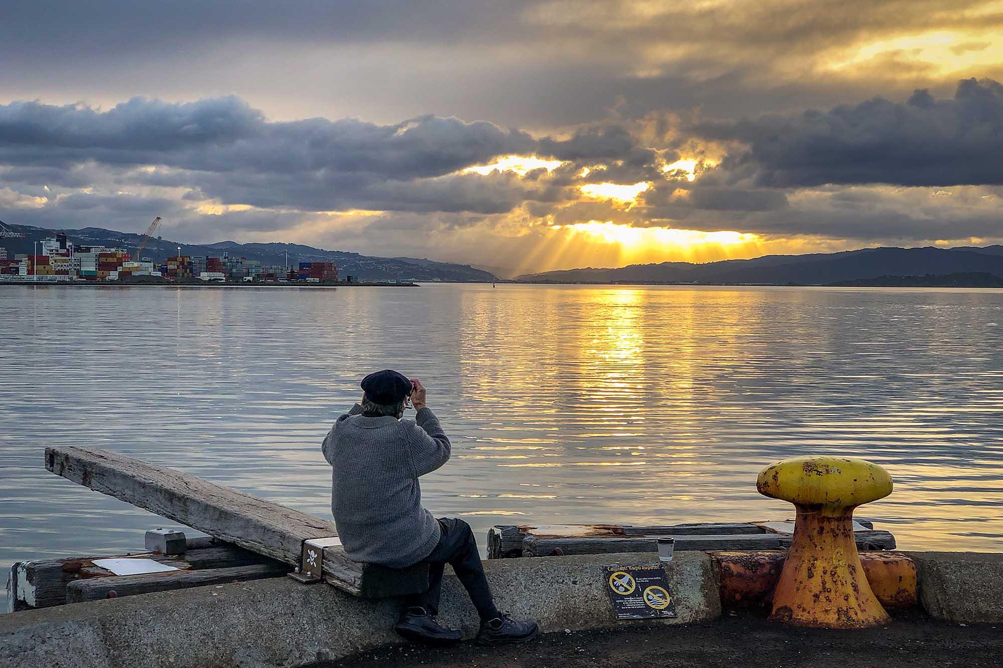 Wellington Harbour at Sunrise